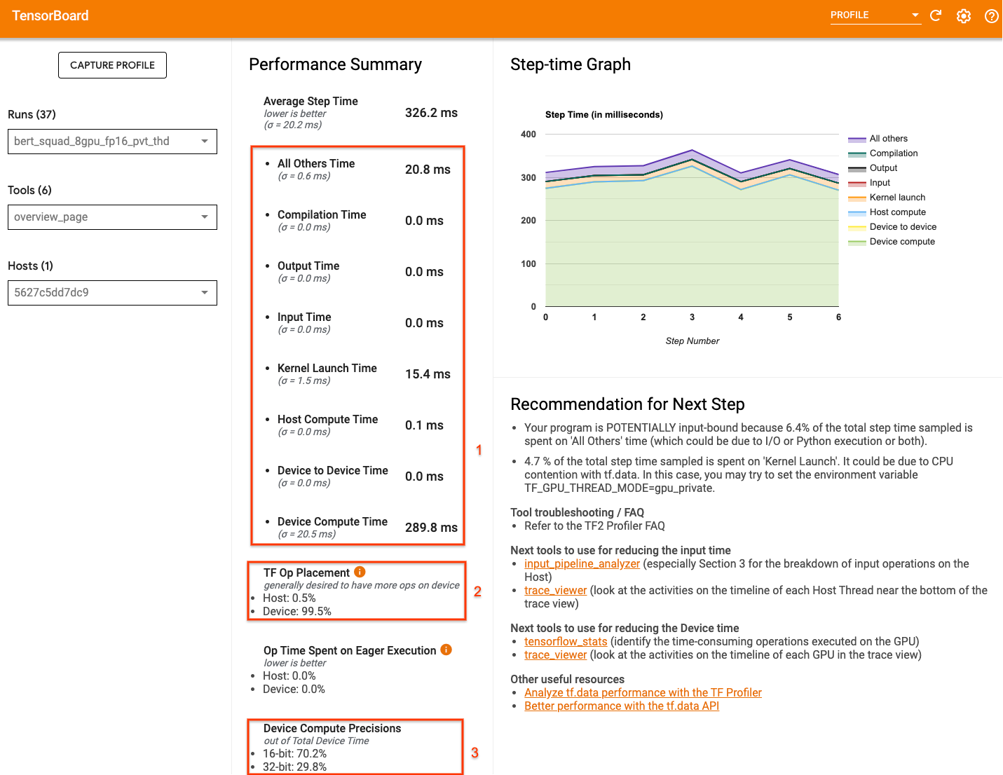 TensorFlow Profiler Overview Page