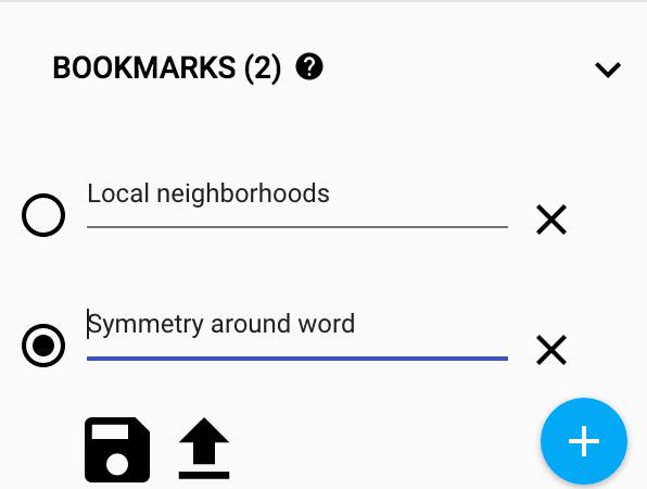 Bookmark panel