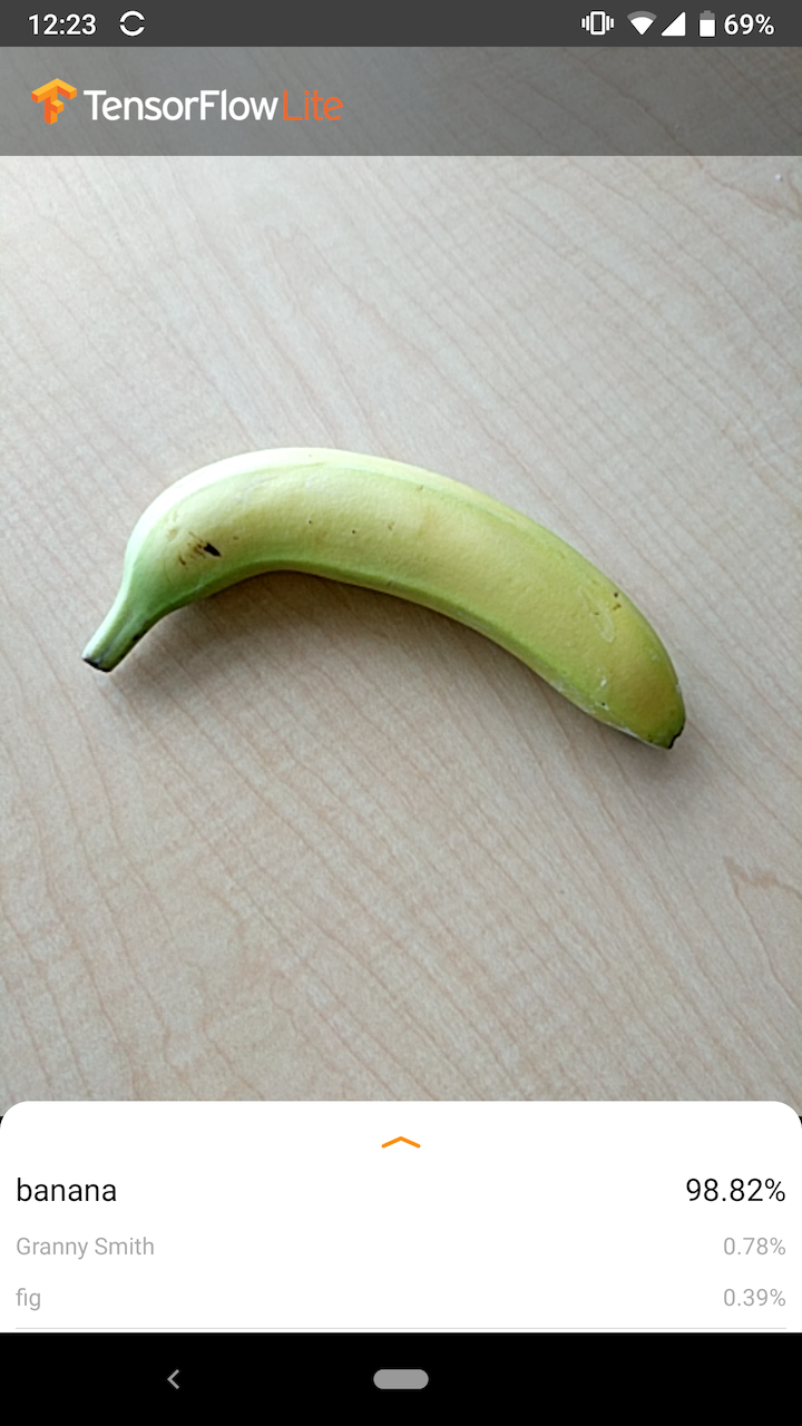 Capture d'écran de l'exemple Android