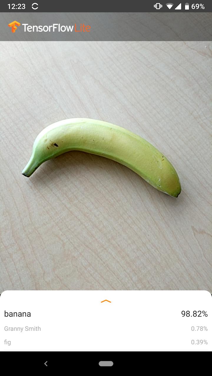 Captura de tela do exemplo Android