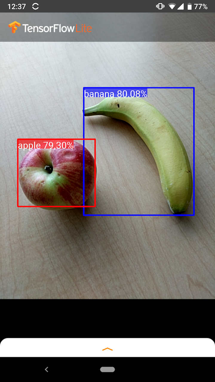 Captura de pantalla del ejemplo de Android