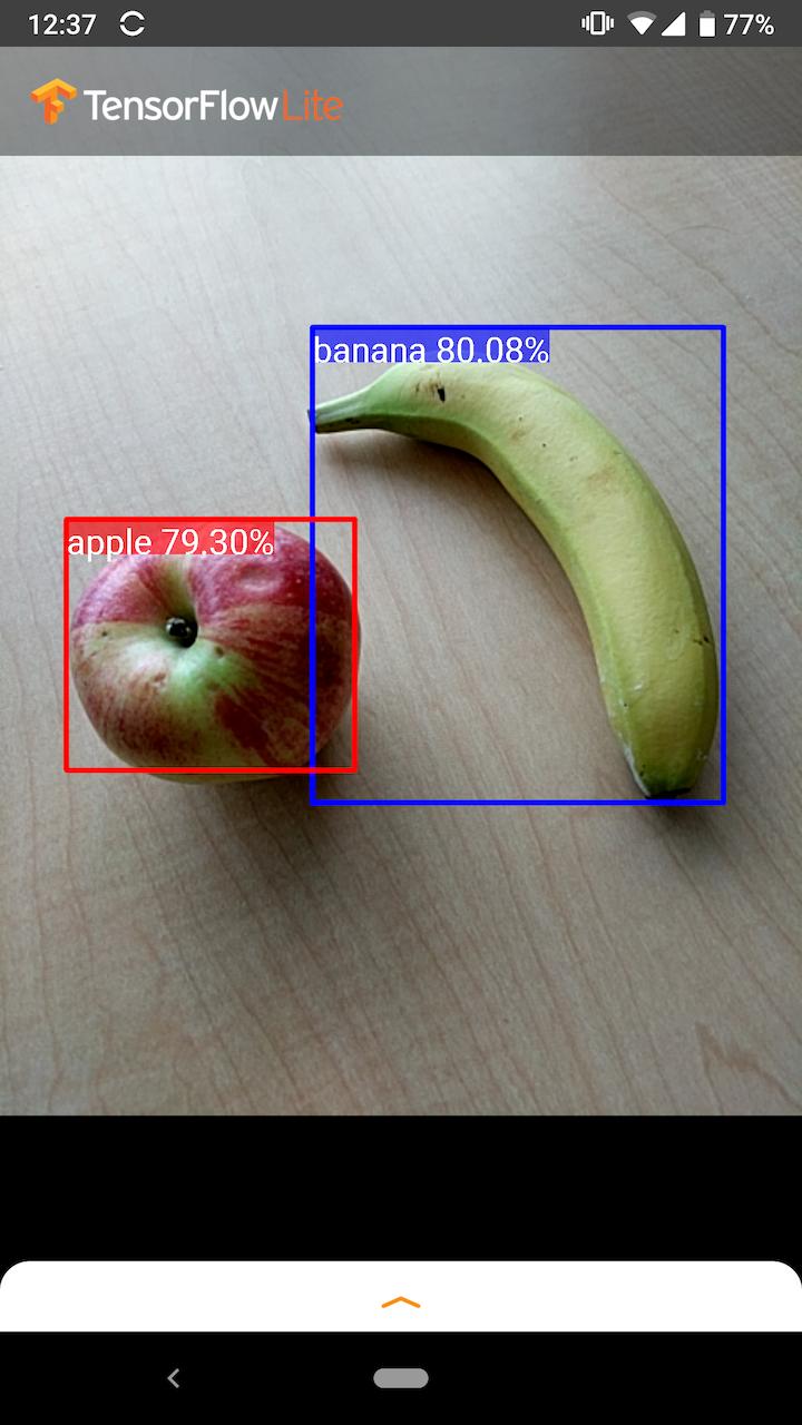 ภาพหน้าจอของตัวอย่าง Android