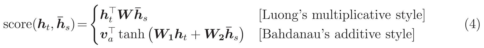 atenção equação 4