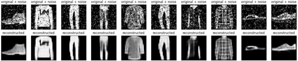 Image denoising results