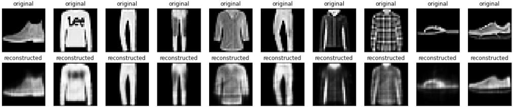Resultados básicos do codificador automático