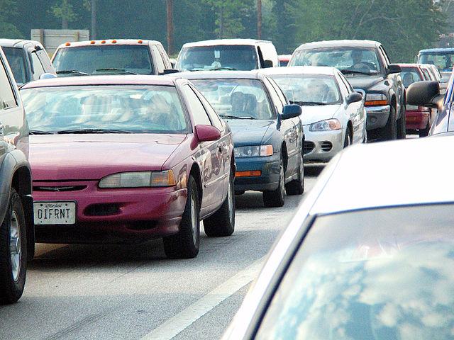 Un atasco de trafico.